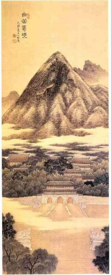 백악춘효 (白岳春曉)